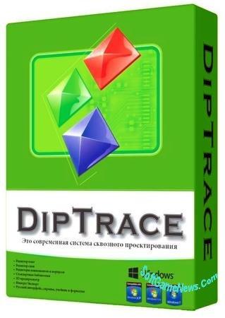 DipTrace v.3.2 (RUS) + библиотека 3D моделей